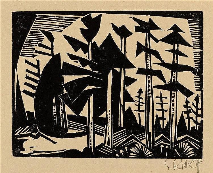Karl Schmidt-Rottluff, Russischer Wald, 1918
