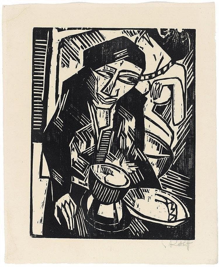 Karl Schmidt-Rottluff, Melancholie, 1914