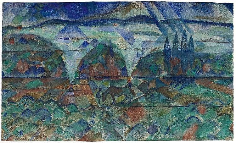 Paul Adolf Seehaus, Herbstfeuer, 1917