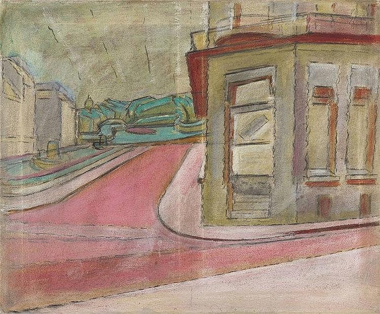 Anton Kerschbaumer, Straßenecke IV (Ostende), 1917/1918