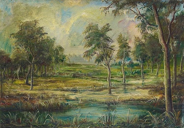 Lorenz Bösken, Baumlandschaft, Circa 1918-1920