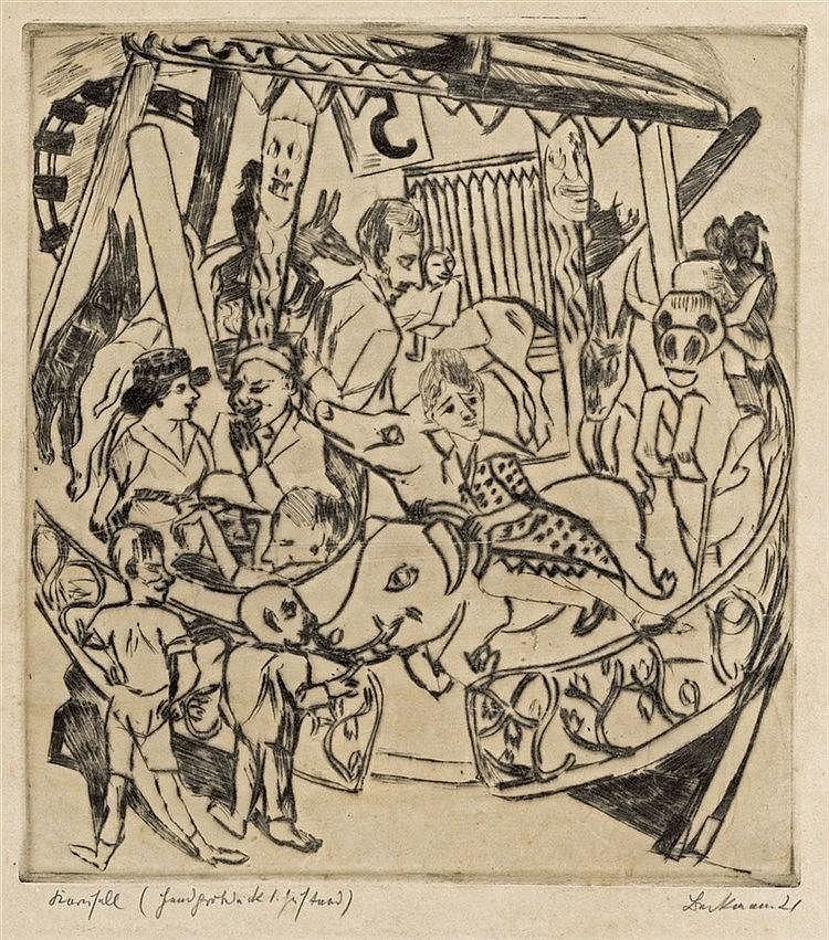 Max Beckmann, Das Karussell, 1921