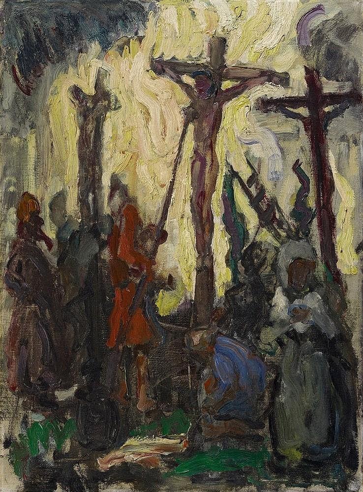Bram Van Velde, Crucifixion (Kruisiging, Golgotha), Worpswede, Circa 1922