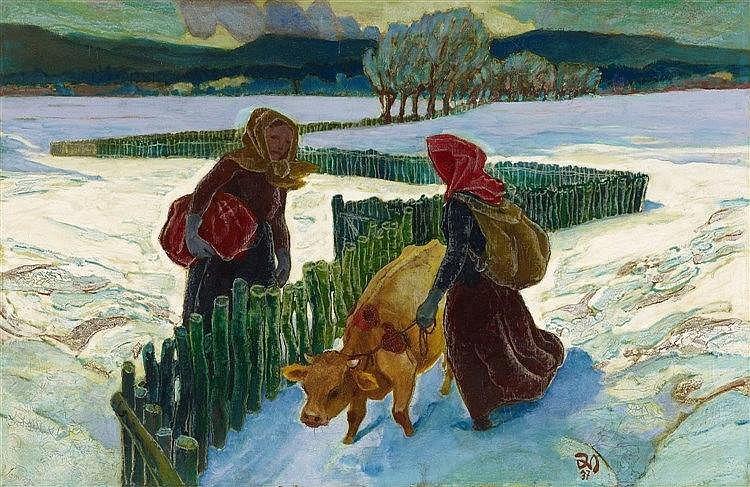 Gustav Wiethüchter, Im Winter, 1937