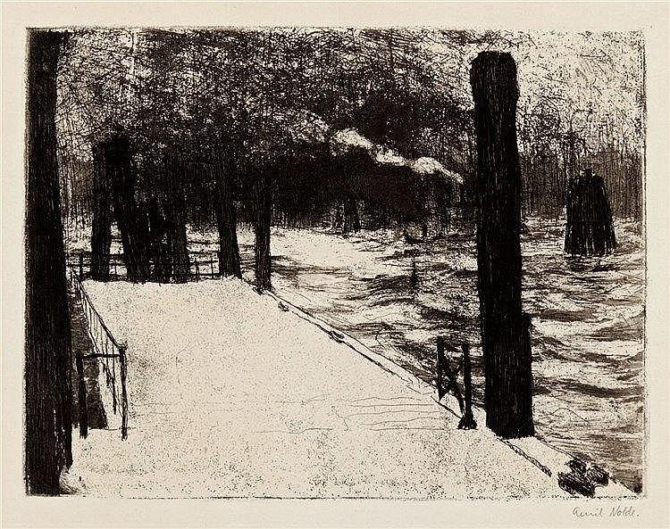 Emil Nolde, Hamburg, Landungsbrücke, 1910