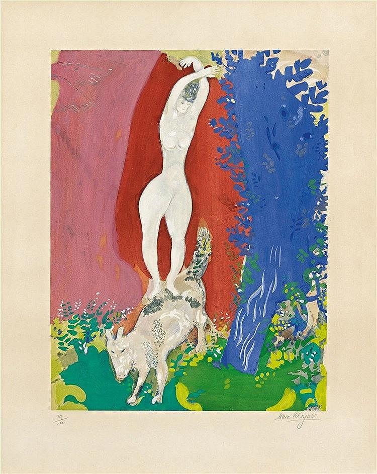 After Marc Chagall, Femme de Cirque, 1960