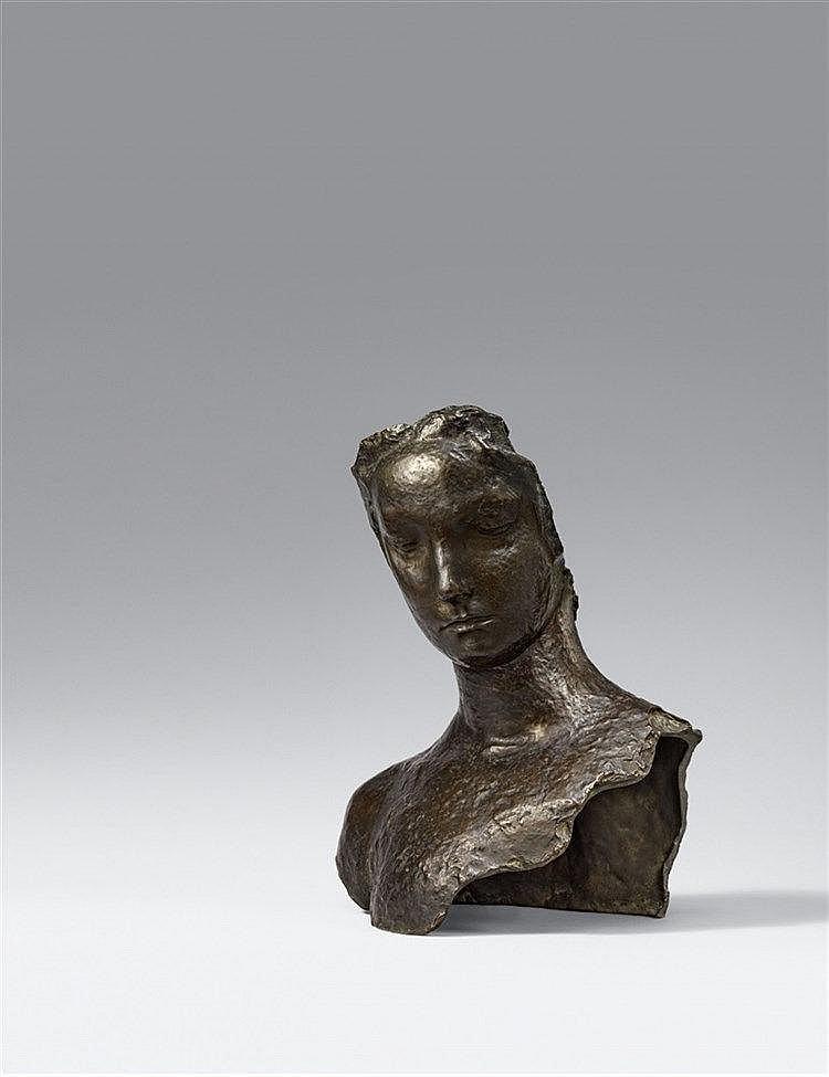 Émile- Antoine Bourdelle, Adolescente - Masque avec buste, 1890