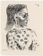 Pablo Picasso, Buste au corsage à Carreaux, 1957