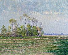 Paul Baum, Weite Landschaft bei Knokke, Circa 1893