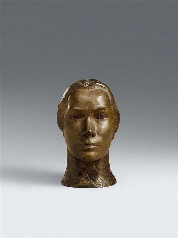 Ernst Barlach, Bildnis Tilla Durieux III, 1912 (plaster model). After 1930
