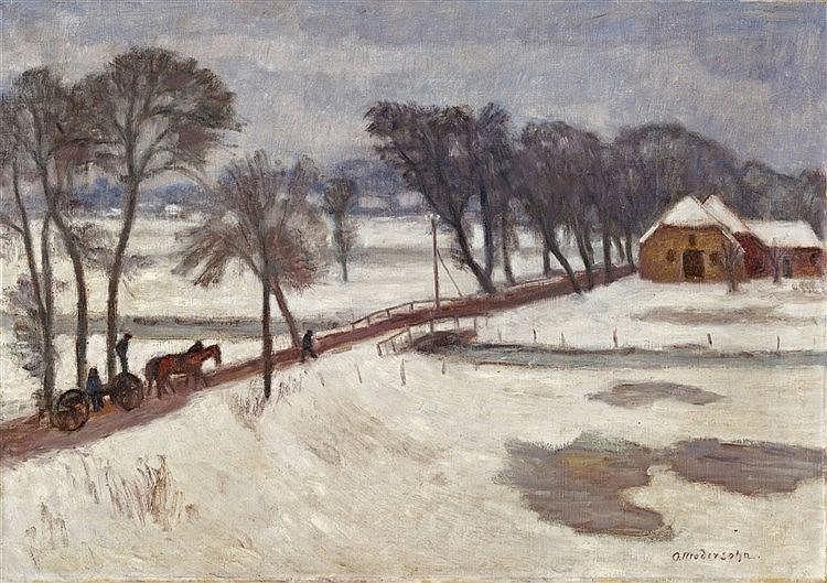 Otto Modersohn, Winterlandschaft, 1920er Jahre