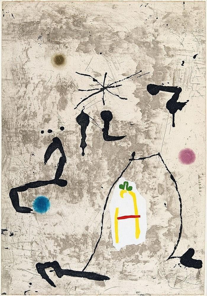 Joan Miró, Personatge I Estels V, 1979