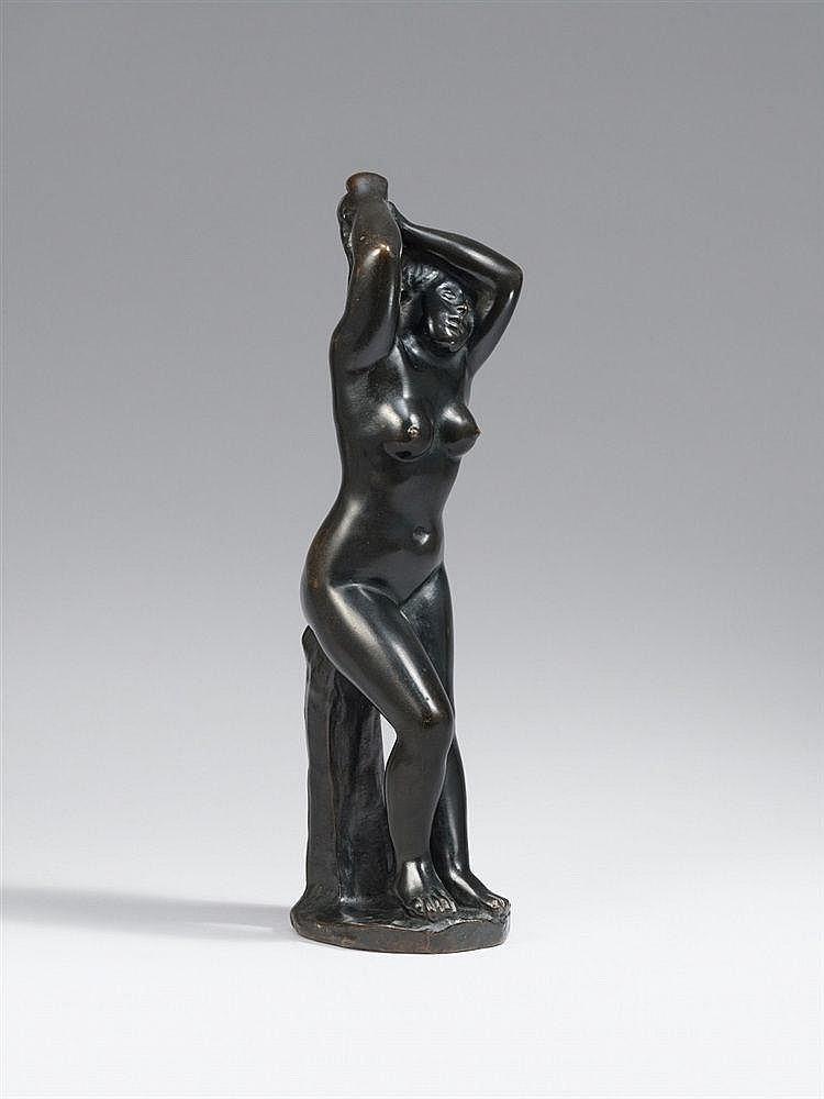 Aristide Maillol, Baigneuse se coiffant (Femme les deux mains aux cheveux), 1905