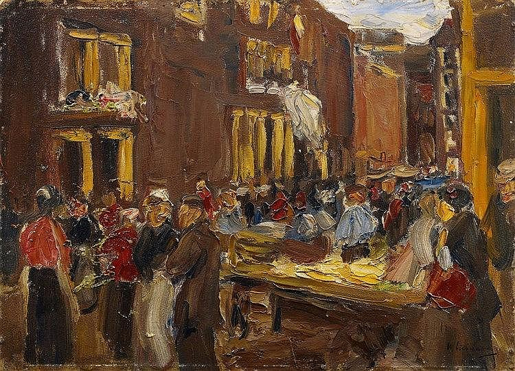 Max Liebermann, Judengasse in Amsterdam / Uilenburgersteeg Ecke Jodenbreestraat, 1905