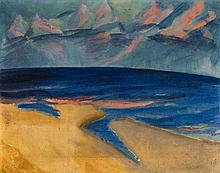 Erich Heckel, Meerlandschaft (Ostende), 1917