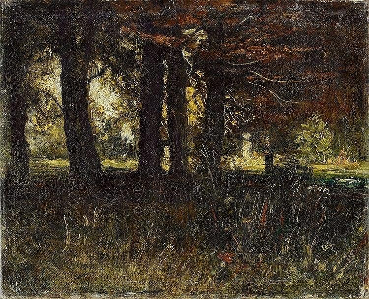 Christian Rohlfs, Im Weimarer Schloßpark, Early 1890s