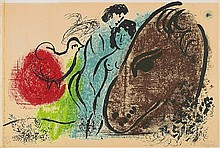 MARC CHAGALL, Cheval brun,  1952