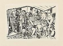 MAX BECKMANN, Hinter den Kulissen,  1921