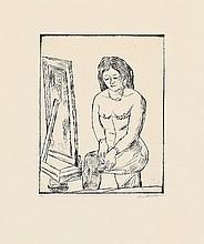 MAX BECKMANN, Toilette (Vor dem Spiegel),  1923