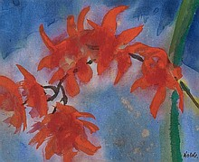 EMIL NOLDE, Orchideenzweig (Rote Rispen),  1925/1930