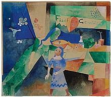 HEINRICH CAMPENDONK, Das Schaufenster,  1919
