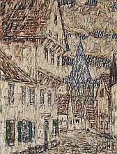 CHRISTIAN ROHLFS, Straße in Soest mit Patroklusturm,  1907