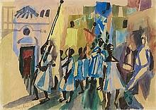 EDUARD BARGHEER, Prozession (San Gaetano Forio d'Ischia),  1949