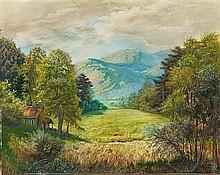 OTTO DIX, Landschaft bei Zimmerbach mit Bruderkapelle (Munstertal),  1945
