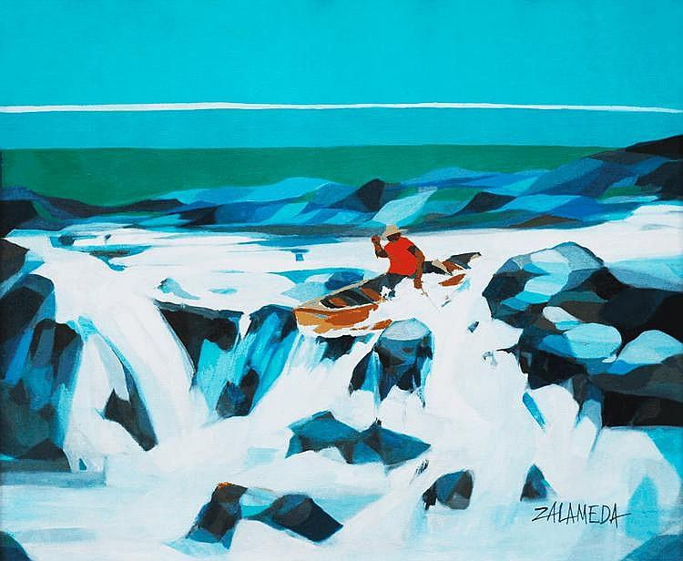 Oscar Zalameda (1930-2010), Boatman