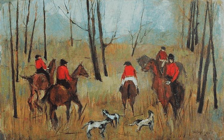 Oscar Zalameda (1930-2010), La chasse