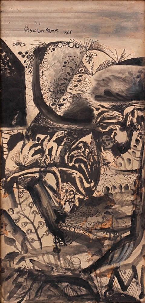 Federico Aguilar Alcuaz (1932 - 2011) Abstract Composition
