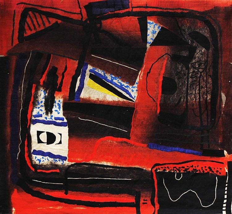 Federico Aguilar Alcuaz (1932 - 2011) Reflexions in Red A