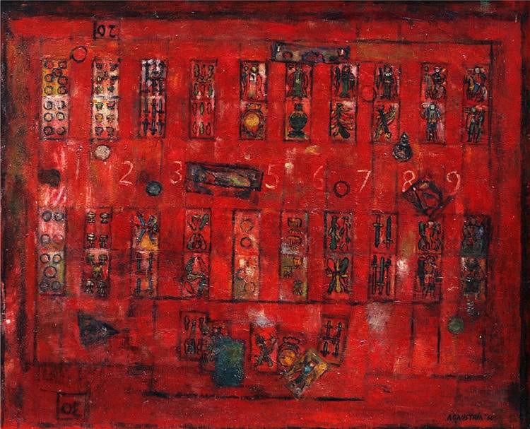 Antonio Austria (1936)  Sakla  signed and