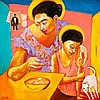 Emmanuel Garibay (1962)  Mother and Child , Emmanuel Garibay, Click for value