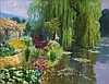 Romulo Galicano (1945)  Morning at Monet's Gar, Romulo Galicano, Click for value