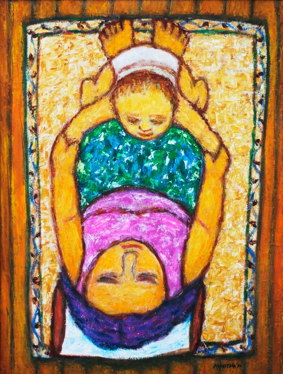 Antonio Austria (b.1936)  Mother and Child