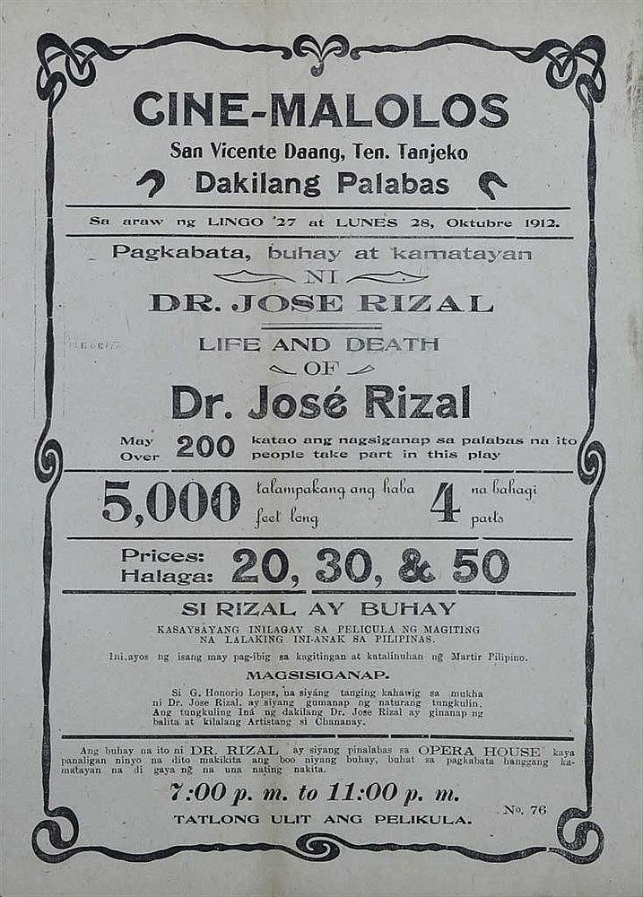 Original Movie Ad Poster of the First Locally Produced Film