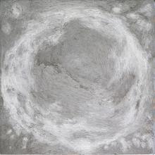 Poklong Anading (b. 1975) - drawing straight circle