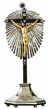 Ivory Crucifix On Silver Base