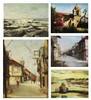 "a.) Seascape, b.) ""Elcano"" San Nicholas, c.) Street Scene, d.) Fish Vendor, e.) Street Scene, Elias Laxa, PHP120,000"