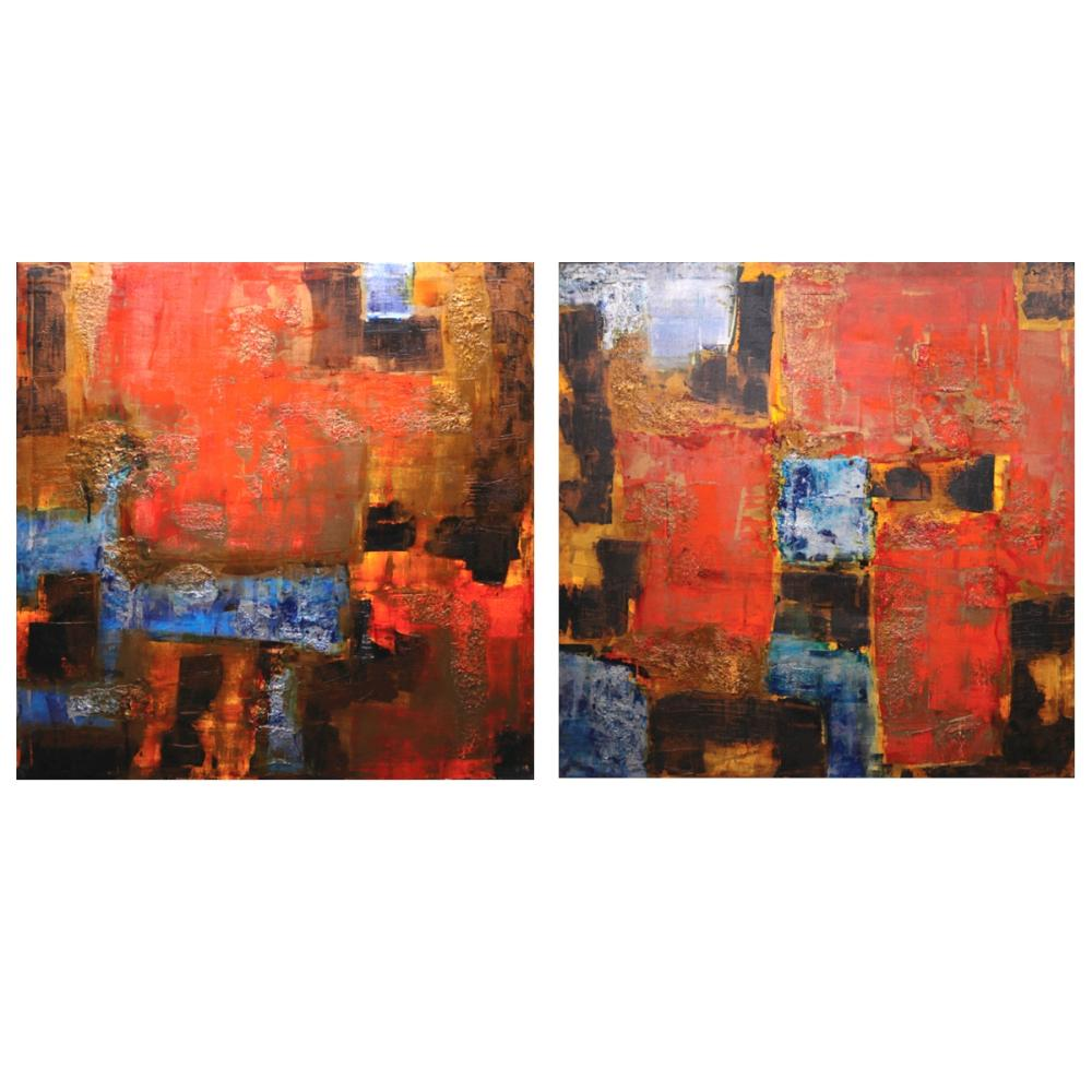 Ivan Acuña (b. 1968) - Abstract (Diptych)