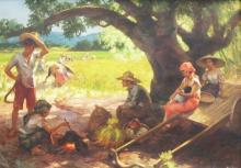 Fernando C Amorsolo Paintings For Sale Fernando C
