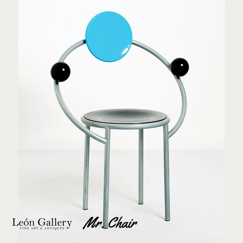 1980s Original Production First Chair by Michele de Lucchi for Memphis Milano