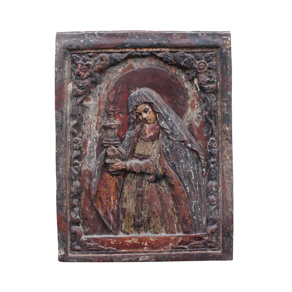 A Bas Relief Depicting Sta. Rita