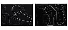 Romulo Olazo (1934-2015)    a.) Permutation Series II No.39, b.) Permutation Series II No.40