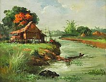 Oscar Navarro (1921-1973)    Riverscape