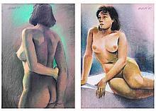 Cesar Legaspi (1917-1994)    a.) Nude, b.) Nude