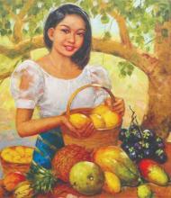 Oscar Ramos (b. 1948) - Fruit Vendor