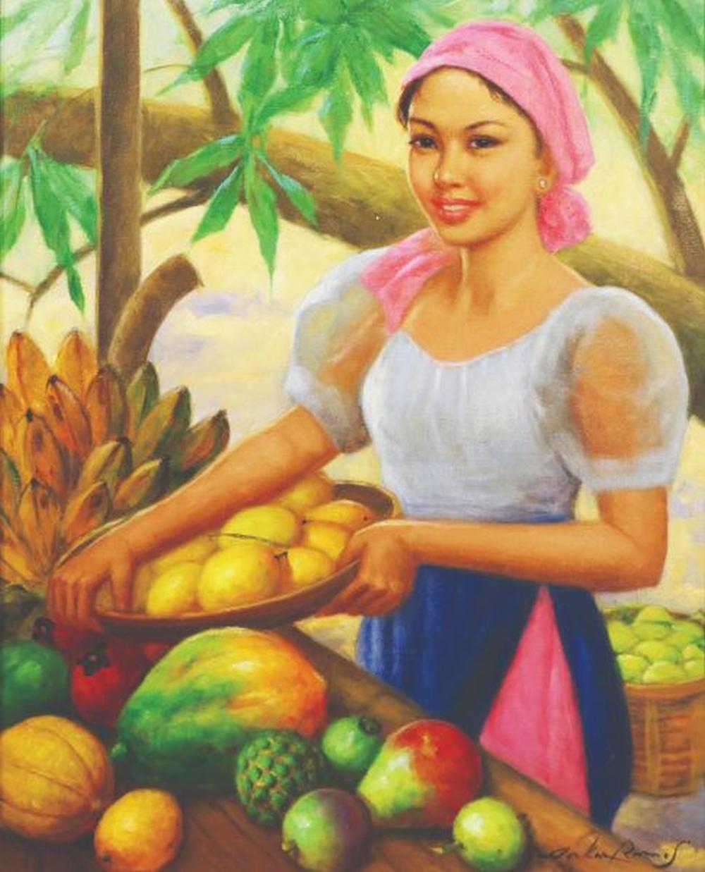 Oskar Ramos (b. 1948) - Fruit Vendor