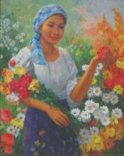 Oscar Ramos (b. 1948) - Gardener